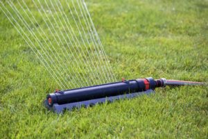 sprinkler system in the garden