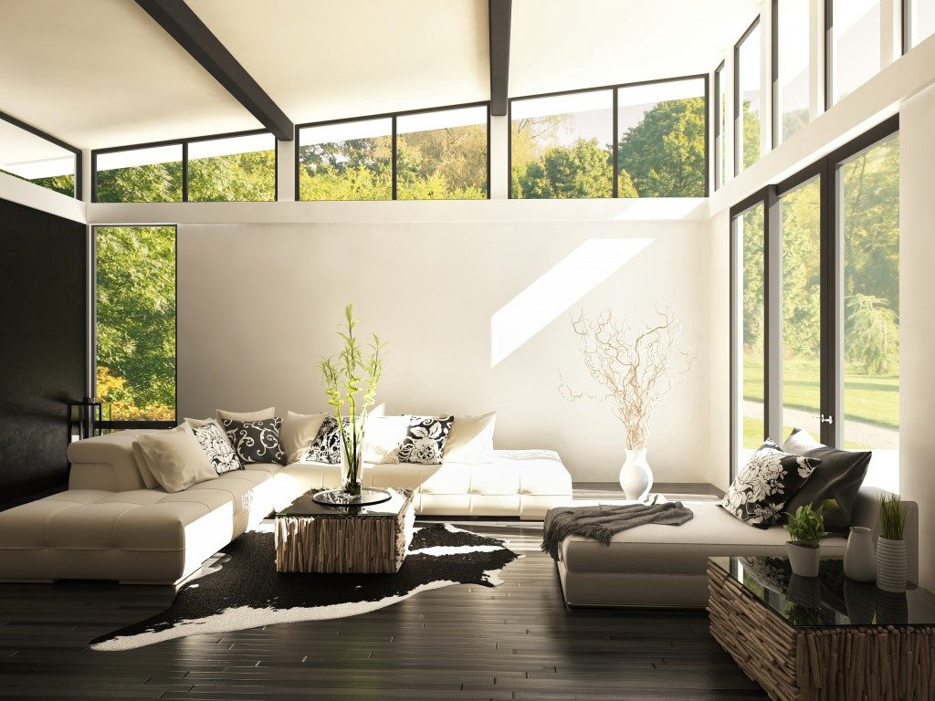 living room with natural sunlight