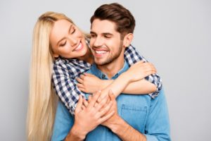 woman hugging her man