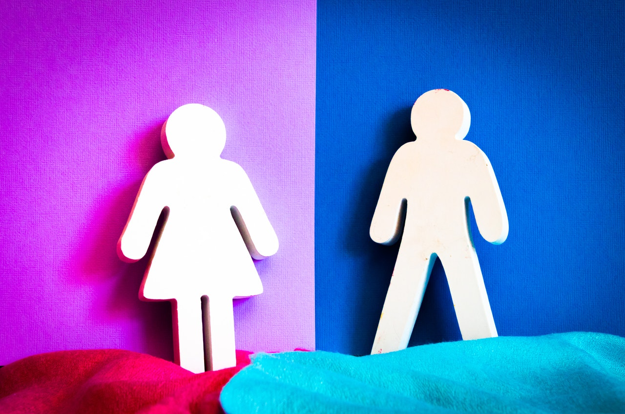 man and woman logos